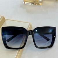 0125 جديد أزياء نظارات المرأة الساحرة مربع النظارات المألوف عالية الجودة الماس لوحة غير مرئية إطار نظارات شمسية مضادة للأشعة فوق البنفسجية في المربع