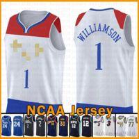 Zion 1 Williamson New Jersey OrleansPelikan-Basketball-Jersey 2020 2021 Neue New Orlean Pelican Damian DEVIN 1 Bookorer 3 Paul 0 Lillard