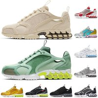 운동화 stussy zoom Spiridon Caged 2 Pistachio Frost Track Team Red Lemon Venom Metallic Silver Breathable Womens Mens Trainers Sports Sneakers