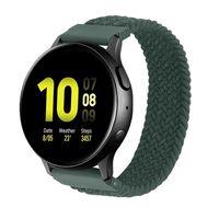 20mm 22mm Naylon Bant Samsung Galaxy İzle için 42mm Aktif 2 Dişli S2 Huami Amazfit GTR için Spor Watchband Kayış Bilezik