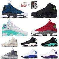 nike air jordan retro 13 13s 2021 أحذية جديدة وصول كرة السلة 13 13S Jumpman الحريرالأردنالرجعية ملعب حلق الخضراء فلينت رجل إمرأة حذاء رياضة المدربين
