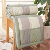 Cool Quilt Stripe Thin Air Condition Quilts Throw Sofa To Wa...