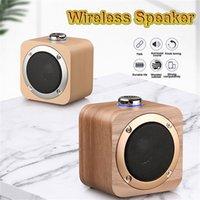 2021 Bluetooth Bluetooth en bois Haut-parleur sans fil Woden Haut-parleurs Surround Mini Wood Wireless Music Player Haut-parleur pour ordinateur de téléphone