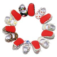 PU in pelle Bambino Soft Sole Shoes Flowerberry Stampato Infant Toddler Scarpe Bowknot Baby Mocassini Culla Vestito 0-24m