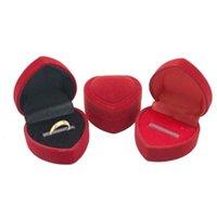 1 قطعة الأحمر الزفاف المخملية أقراط خاتم مربع مجوهرات عرض حالة حامل هدية صناديق رومانسية المنظم خاتم الخطوبة صناديق الساخنة