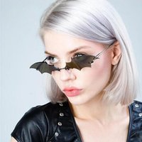 QPeClou 2020 New Personality Bat Sunglasses Women Fashion Cu...