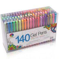 متعدد الألوان الألوان حبر بوذنال هلام القلم الغيارات بريق الألوان رسم اللوحة الحرفية ماركر مكتب القرطاسية اللوازم