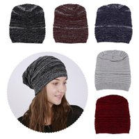 Winter Warm Beanies Hats Acrylic Skullies Hip Soft Knitted Hat Female Cap For Boys Girls Outdoor Caps Fashion Accessory