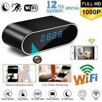 Mini-Kameras WIFI-Tischuhr-Kamera 1080P HD-IP-P2P-DVR-Camcorder-Alarm-Set Nachtsicht-Bewegungssensor-Fernüberwachung Micro Cam