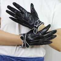 Пять пальцев Перчатки Harppihop * Высокое Качество Натуральная кожа Женщины Осень Зима Плюс тонкий мода Тонкий рукой Теплая овчина