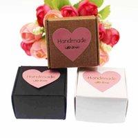 선물 포장 50pcs 크래프트 / 화이트 / 블랙 작은 귀여운 비누 상자 사탕 스티커 레이블 장식 결혼식 Faovrs / Candy / Toys1