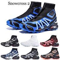 2021 Snowcross CS Trail Invierno Botas de nieve Blanco Volt negro azul rojo Calcetín rojo Chaussures Transineradores para hombre Zapatos de bota de nieve de invierno