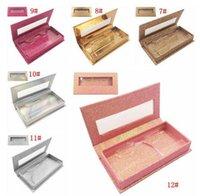 NEW Glitter Rhinestone Lash Case 3D Mink Eyelashes Empty Custom Packing Boxes Glitter Rhinestone Lashes Cases Without Eyelash