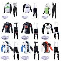 2020 Dimension Data Riesen Mannschaft-Radfahren Winter-thermische Vlies Jersey (Bib) Hosen Sets Breathschnell -Dry Männer Reitfahrrad Clothesk0110