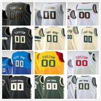 Пользовательские напечатанные Джаннис 34 Antetokounmpo Khris 22 Middleton Jrue 21 Holiday Brook 11 Lopez 12 Augustin Мужчины Женщина Дети Молодежный баскетбол Джерси