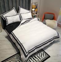 Ensembles de literie tissée en tissu en molleton de la taille Queen Lit de couverture de couette imprimée Vente 2 Coussin d'oreiller Couverture de couette de couette