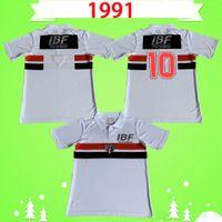 1991 1992 Sao Paulo Retro Soccer Jersey Schwarz Rot Weiß 91 92 Klassische Vintage Home Away Football Hemd Thai Qualität Camisa de Futebol