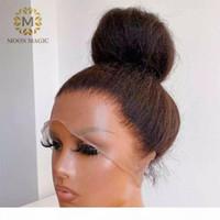 360 parrucca frontale in pizzo HD Kinky Dritto 360 parrucca di pizzo parrucca capelli umane precipitata full da 26 pollici front capelli umani parrucche per capelli per le donne