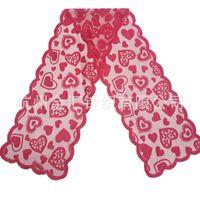 33x183cm Czerwony Wzór Serca Tabela Runner Tabela Tkaniny Pokrywa Do Walentynki Wedding Party Home Decoration Home Textiles 344 J2