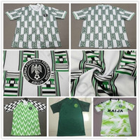 1994 Copa do Mundo Clássico Vintage Vintage Retro Jerseys Iheanacho Shehu Ndidi Starboy Custom 94 Home Futebol Verde Uniforme