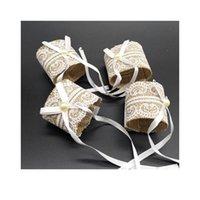 6 pz / lotto pizzo perla bowknot tovagliolo anello ad anello sedie a fibbie per il titolare di decorazione del partito di nozze evento Handmade Napk Qyliuy