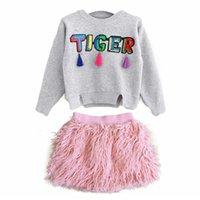 New Ins Herbst Winter Rosa Pelz Quasten Mädchen Röcke Kinder Kleidung Mode Kleinkind Shorts Röcke Baby Bleistift Röcke Kinder Kleidung 311 K2