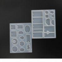Pendentif mode Scrapbooking Silicone Moule de silicone DIY Résine Craft Décoratif Bijoux Fabriquer des moules en résine époxy moule
