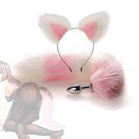 Metallo Fox Coda Tappo anale Plug Butt Plug Prostata Massaggiatore Dildo Gay Gioco Adulto Gioco Adulto Buttplug Erotico Bullet Vibratore Sex Toys per le donne uomini