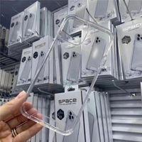 آيفون 12 برو ماكس XR X 7 8 زائد حالة الفضاء الشفاف واضح من الصعب الحالات الهاتف من أجل Samsung S20 S21 Ultra A20 A31 A51 مع صندوق البيع بالتجزئة
