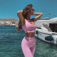AF 2 pcs / set Seamless Mulheres Suit Sport Yoga Gym Workout Clothes manga comprida Academia Top Curto e amassar BuLeggings Set Yoga