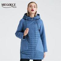 MIEGOFCE 2020 Yeni Koleksiyon kadın Bahar Ceket Şık Ceket Hood Yama Cepleri ile Çift Koruma Rüzgar Parka LJ200825