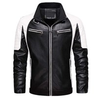 MANTLCONX 높은 품질 블랙 PU 가죽 자켓 패션 방풍 지퍼 자켓 인조 가죽 모터 바이커 재킷 코트 착실히 보내다 남성