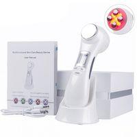 6 Em um massageador Led Rf Photon Terapia pele facial de elevação rejuvenescimento de vibração do dispositivo de emissão da máquina de microcorrentes Mesotherap
