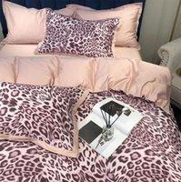 rosa amarelo leopardo conjunto de cama de impressão Europeu, cheio rainha rei algodão dupla têxteis lar cobertura fronha lençol colcha