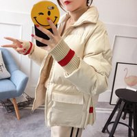 Women's Down & Parkas 2021 Winter Women Fashion Cotton Padded Jacket Female Stand Collar Coat All-match Design Thick Short Oversize Z50
