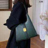 Crocodile Pattern PU Leather Shoulder Bags For Women 2021 Retro Quality Handbags Lady Designer Totes Female Hand Bag