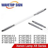 Wavetopsign الليزر زينون مصباح X8 سلسلة قصيرة قوس مصباح q- التبديل nd فلاش النبض الضوء ل yag الألياف لحام القطع T200522