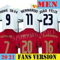 20 21 رونالدو لكرة القدم الفانيلة فريق وطني Joao Felix 2020 2021 Bernardo Portuga B.Fernandes قميص كرة القدم للرجال