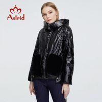 Kuzu kürk kaput büyük boyutlarda kadın giyim 9231 201014 ile Astrid Yeni Kış Kadın ceket kadınlar sıcak parka moda kalın Ceket