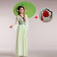 Bunte chinesische traditionelle antike dress womens hanfu grün rot rosa tanz mädchen kostüm frauen dame fee prinzessin kleidung set1