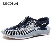 MIXIDELAI 2020 Yeni Geldi Yaz Sandalet Erkekler Ayakkabı Kalite Rahat Erkekler Sandalet Moda Tasarım Rahat Erkekler Sandalet Ayakkabı T200420