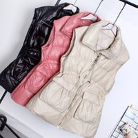 Sedutmo Inverno Duck Down Mulheres Vest longo Jackets Túnica Grosso Colete Primavera Oversize Casual Magro Parkas Ed1187