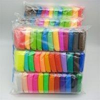 Fluffy Sliming 36 Colors set Air Drying Light Plasticine Modelling Clay Super Light DIY Soft Creative Educational Toys Lizun 201226