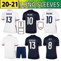 2021 팬 버전 사용자 정의 축구 유니폼 4 Bradley 10 Pulisic 10 Lloyd 17 Heath 8 Ertz 13 Morgan 15 Rapinoe Men + Kids Kids Football Shirt