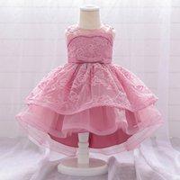 2020 الصيف الوليد الأول عيد اللباس عيد لبطف فتاة الملابس فستان الزفاف فساتين الأميرة حزب ملابس الطفل 3-24 شهر