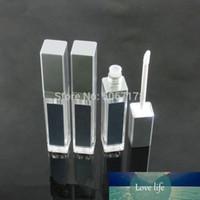Acrílico vazio maquiagem diy labelo gloss garrafa preto / prata quadrado labial tubo de brilho com led luz espelho labial Glair