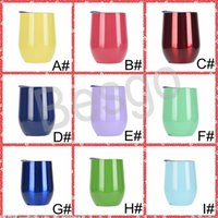 12oz Multicolor Thermos Cup Eggshell Cup Stainless Steel Water Mugs Bottle High Temperature Resistance U-shaped Egg-shaped Cup BH4173 WXM