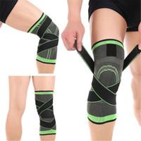 Coupeaux au genou au genou 3D Tissage Brace Pad Soutien Protège Compression Fit Courir Jogging Sport Sports Sports Élastic Kineiology Rôle
