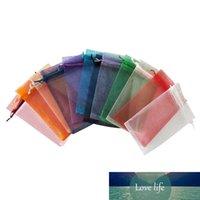 50pcs 7x9cm Transaprent Organza Drawstring Jewelry Pouch Wedding Party Gift Bags Net Network Yarn Candy Bracelet Jewerly Display