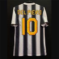 Juve Rétro 95-03 11/12 Jerseys de football Zidane Del Piero Pirlo Vialli Trezeguet Vieri Inzaghi Salas Nedved Boksic Kits Vintage Kits classiques